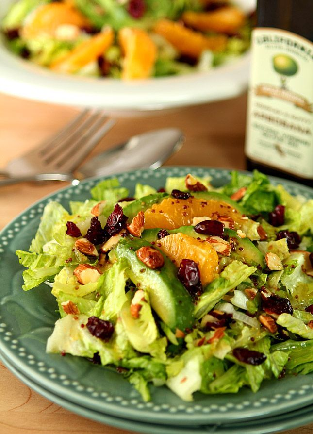 This Avocado and Orange Chopped Salad is filled with fresh ingredients and topped with a wonderful honey mustard dressing.