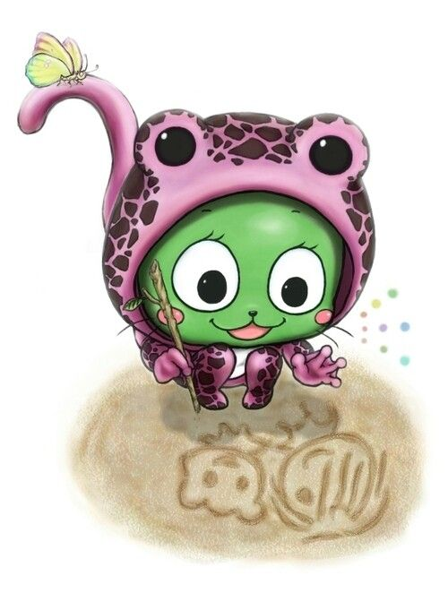Aww!! I'm not sure whether I should die from how cute the drawing is or be sad that Frosch can draw better than I can...x3