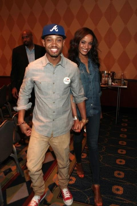 "Model Selita Ebanks and her boyfriend Terrence J leaving the ABFF Celebrates ""Think Like A Man"" panel honoring Will Packer and Rob Hardy at the 16th Annual American Black Film Festival in Miami Beach."