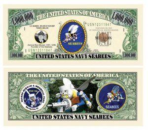 Set of 1000 – Seabee Million Dollar Bill