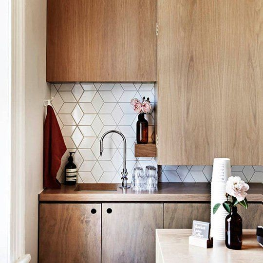 """Help Me Find a Kitchen Tile Similar to This Style! NOTE : Heath Ceramics has something similar. The """"Little Diamond"""" pattern http://www.heathceramics.com/home/pages/tile-build/collections-brands/dwell-patterns-2"""