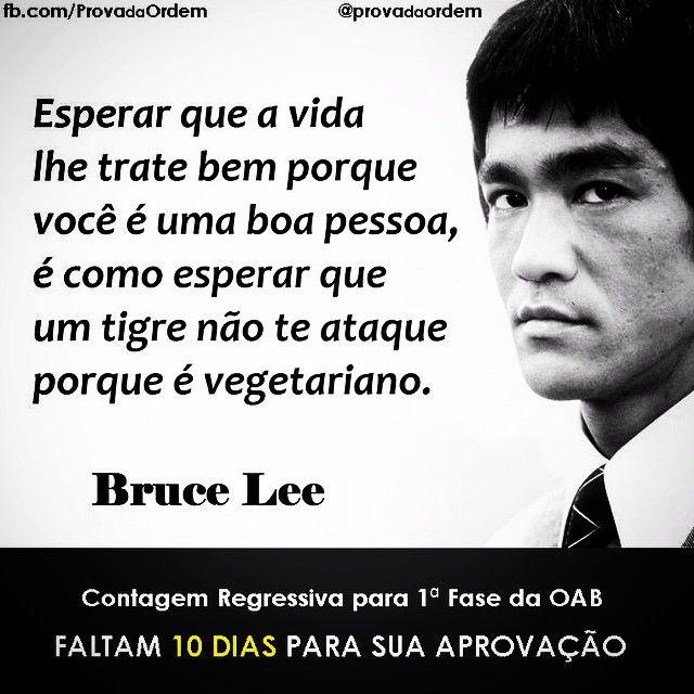 Instagram Prova da Ordem - Frase de Bruce Lee