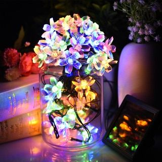 Solar Decor Blue, Gold, Green Plastic Indoor Outdoor Waterproof LED Blossom Decorative String Lights | Overstock.com Shopping - The Best Deals on Seasonal Decor