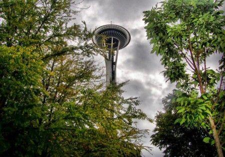 Torre Space Needle en Seattle en el estado de Washington