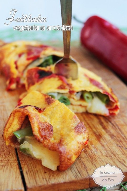 Frittata vegetariana arrotolata