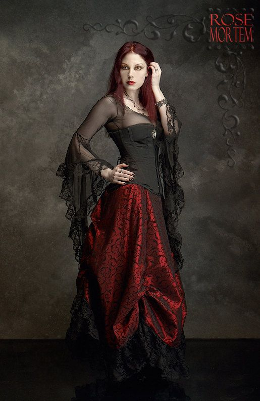 Lavinia Mesh Lace Fairy Top / Shirt - Custom Elegant Gothic Clothing and Dark Romantic Couture. YES! :)