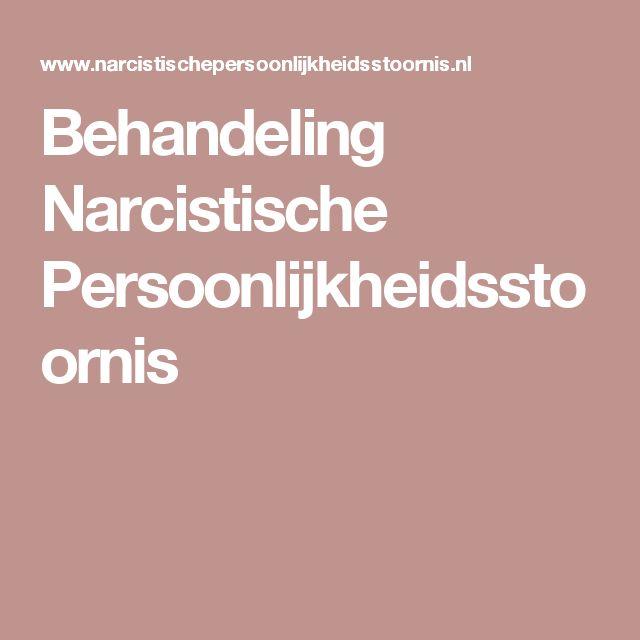 Behandeling Narcistische Persoonlijkheidsstoornis