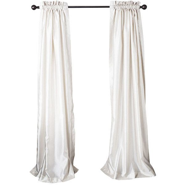 Faux Silk Rod Pocket Curtain Panel in Ivory ❤ liked on Polyvore featuring home, home decor, window treatments, curtains, faux silk curtains, beige curtains, faux silk drapery panels, pole pocket curtains and faux silk draperies