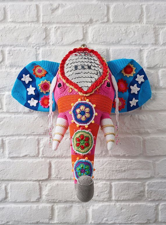 Faux Taxidermy Crochet Elephant Pattern I Need This In 2018
