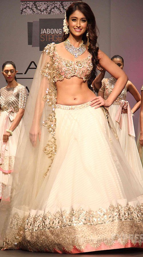 Cream Ileana DCruz Replica Lehenga Choli 050