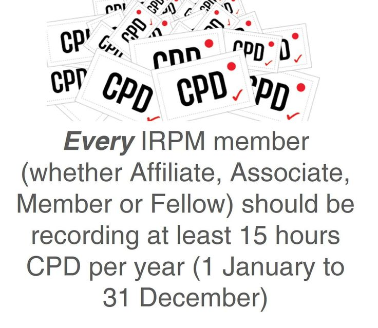 Have you started your 15 hours of IRPM CPD for this year? http://buff.ly/2bhUIME  #CPD #Irpm