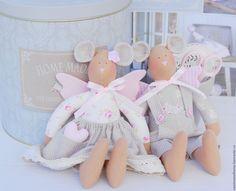 Купить Мышки Tilda - бледно-розовый, серо-розовый, нежно-розовый, нежные цвета, мышки