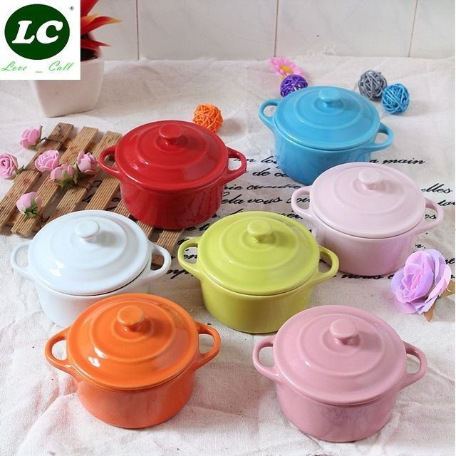 Frete grátis tampa fogão lento copo sopa louça Cerâmica forno de microondas panela de sopa sobremesa tigela de sopa caçarola mini