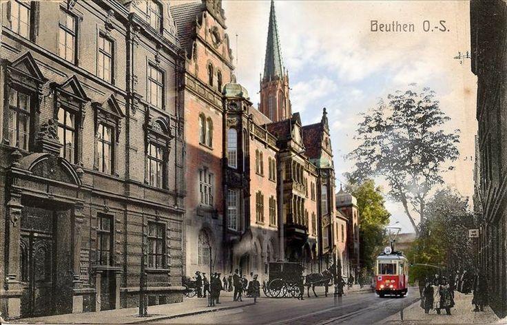 Ulica Piekarska w Bytomiu 1910 r. / 2014 r.