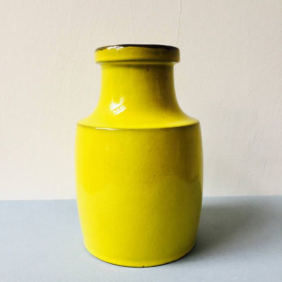 1 x vaas. Melitta. Gele. Citroen. Gelb. Duitse aardewerk.