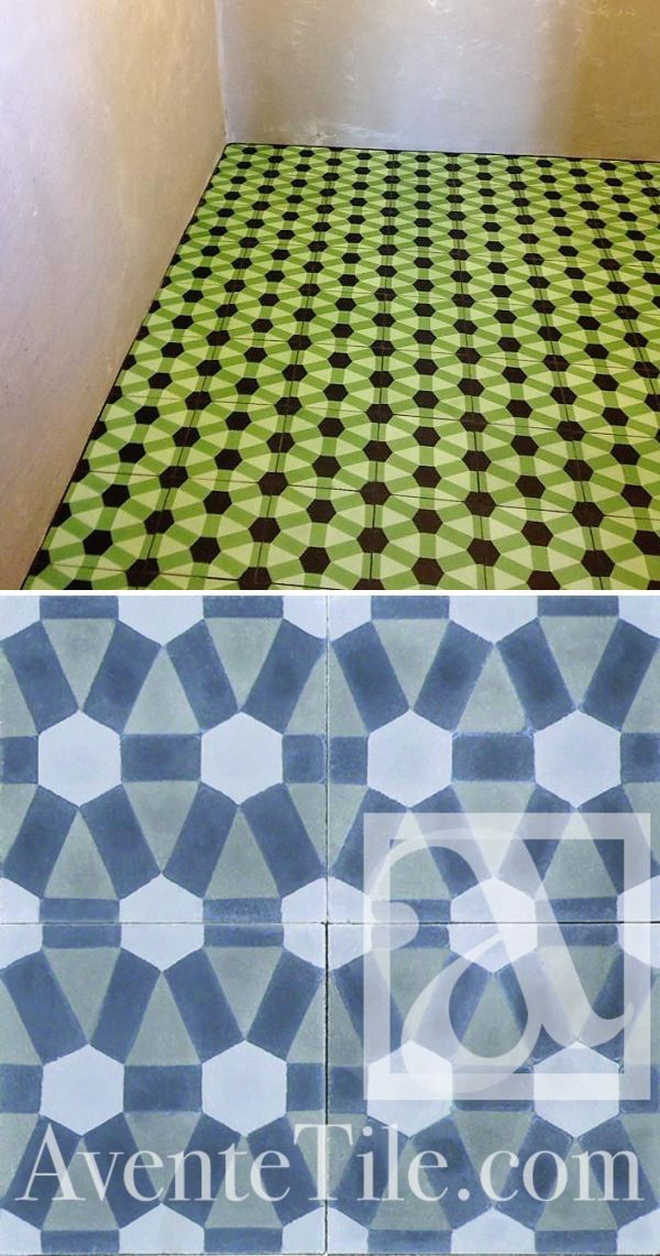 Geometric Diamond Cement Tiles By Avente Tile At The Coronet