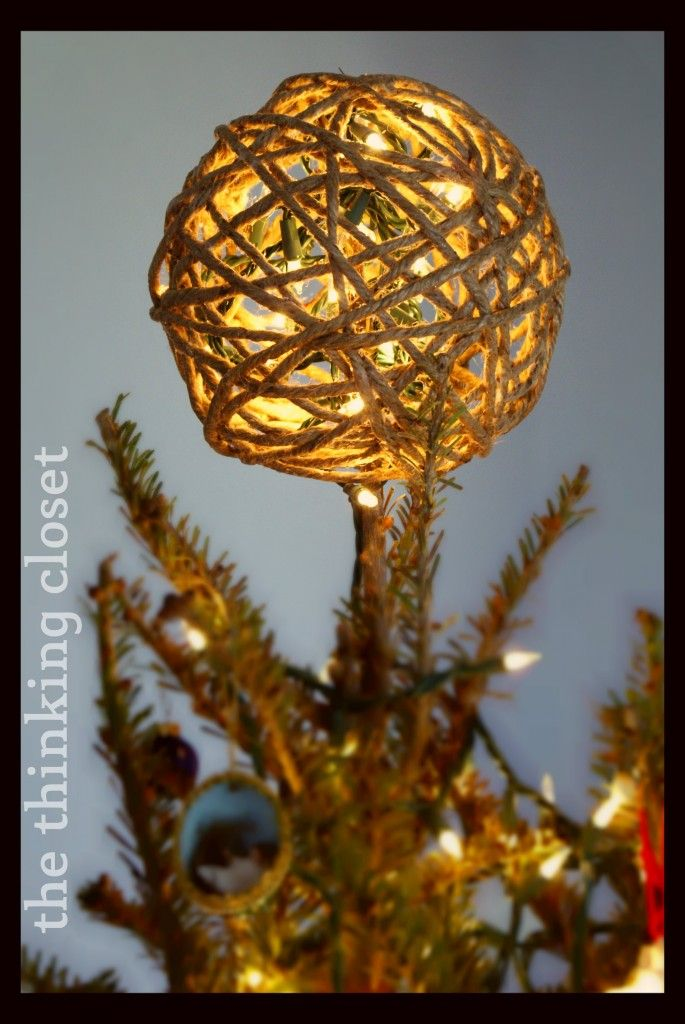 Twine Ball Tree Topper