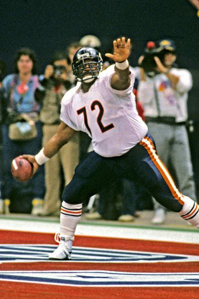 """William """"The Refrigerator"""" Perry, Chicago Bears...I fell in love with football watching the """"REFRIGERATOR"""""""