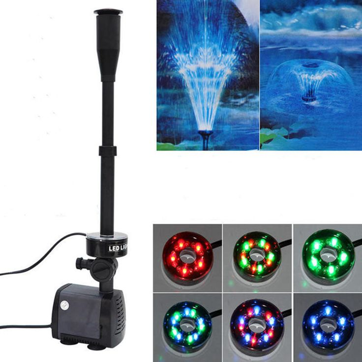 40w 2000l/h Aquarium Fish Pond Led Submersible Water Pump Garden Decoration Fountain Pump With Led Color Changing Fountain Maker //Price: $85.00      #socialenvy