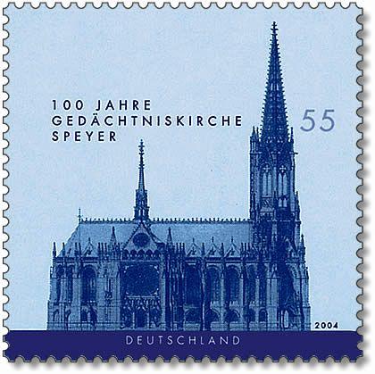 Stamp Germany 2004 MiNr2415 Gedächtniskirche Speyer.jpg