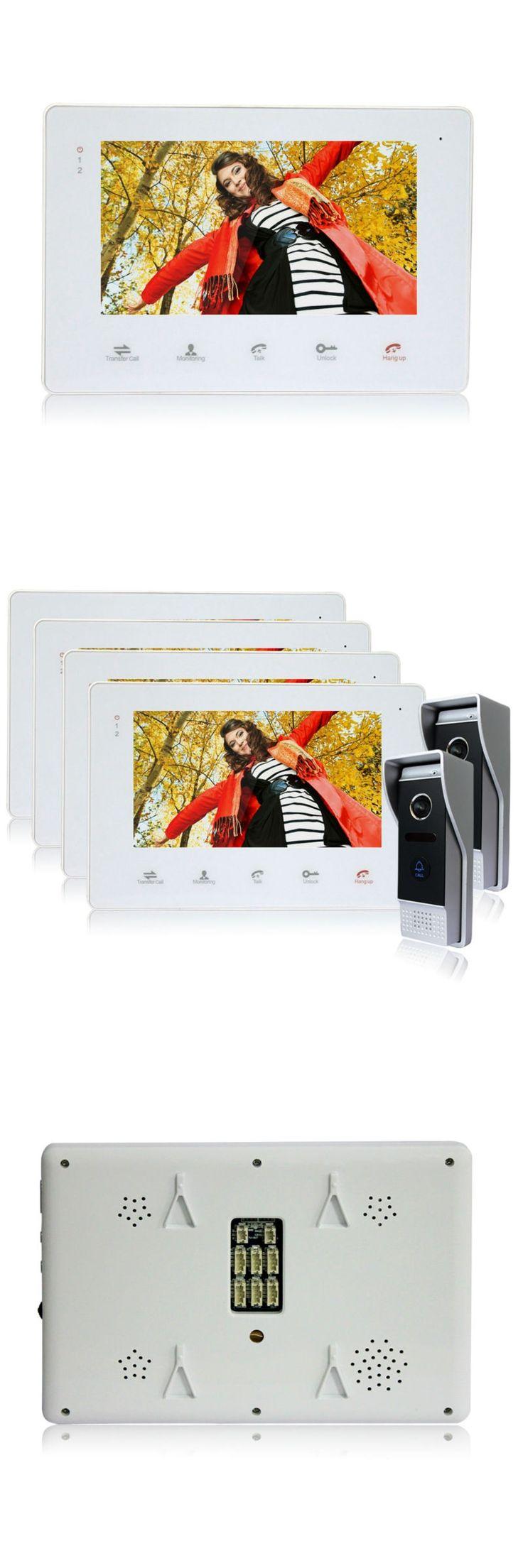 Best 25 intercom ideas on pinterest smart home website homefong 7 officehome door phone video doorbell touch key 7 inch lcd rubansaba