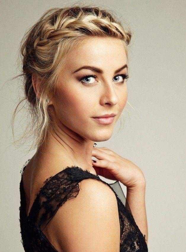 Julianne hough in a pretty braided updo