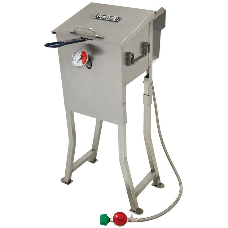 Make the most of your outdoor cooking events with this stainless steel 2.5-gallon fryer. This high-quality unit uses propane to fry easy, delicious outdoor meals.