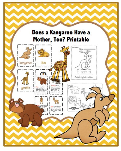 Preschool Printables: Does Kangaroo Have a Mother, Too? - Printable