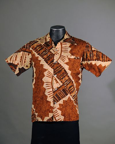 #Hawaiian #Aloha #Shirt vintage tapa print