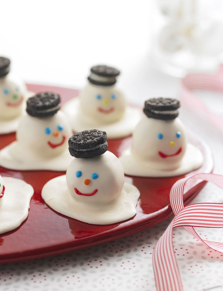 The perfect holiday gift for your host - Melting Snowmen Cookie Balls.