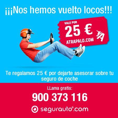 ¡Calcular tu #seguro de #coche en Segurauto tiene su recompensa! Déjate asesorar sobre tu #Seguro y gana un vale de 25€ de Atrapalo para lo que tu quieras! Déjanos tus datos aquí: https://www.segurauto.com/seguros-de-automovil/promocion-25-por-presupuesto y te llamaremos enseguida. #SeguroDeAutomovil
