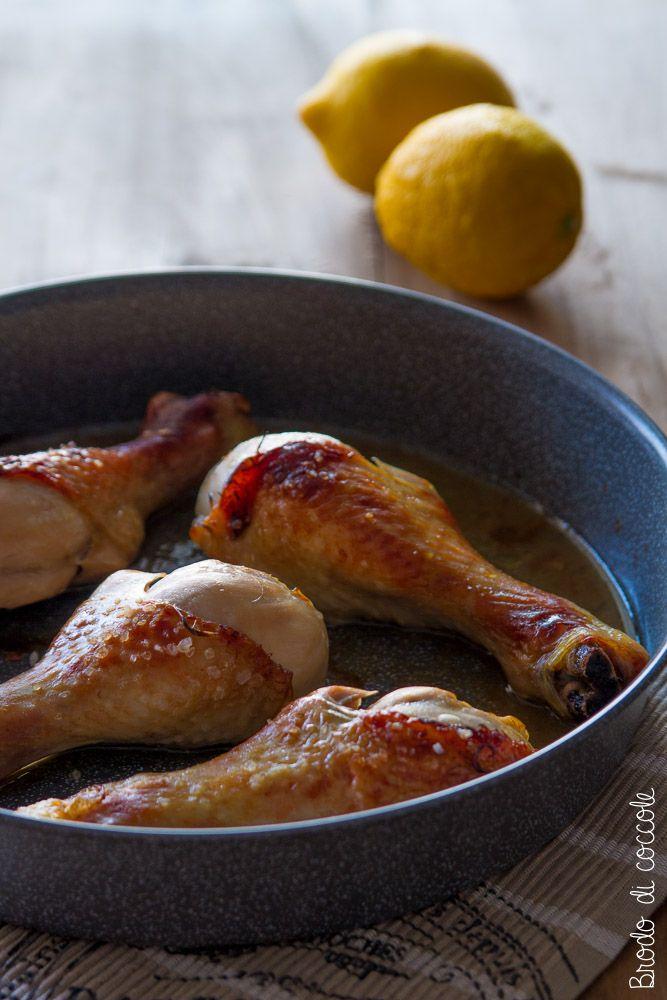 Fusi di pollo al limone e miele