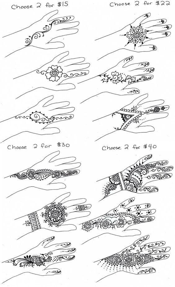 Simple henna designs: