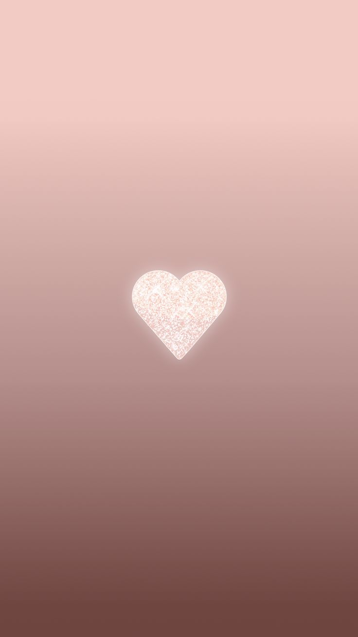 Rose Gold Heart, phone wallpaper, background, lock screen