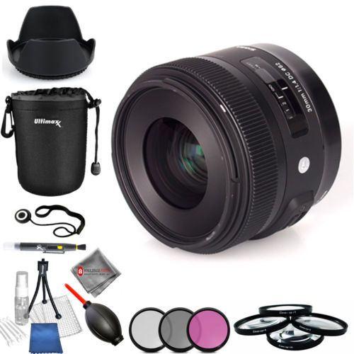 Sigma 30mm f/1.4 DC HSM Art Lens for Canon - Pro Bundle Brand New!