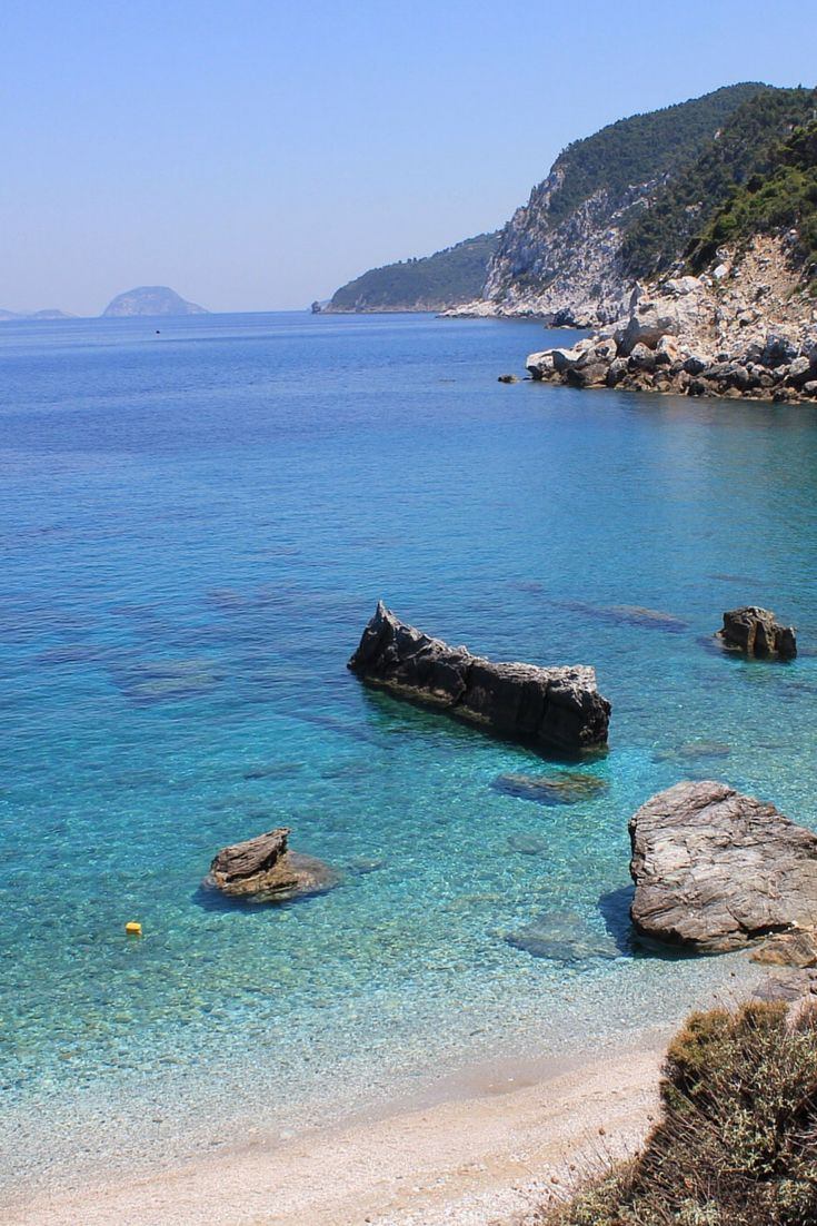 Beach next to Agios Ioannis church, Skopelos island, Greece #ihavethisthingwithgreekbeaches #Greece