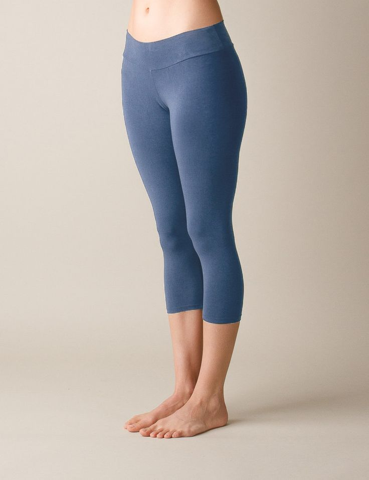 Organic Dharma Crop Leggings - Ocean Blue #SivanaWishes