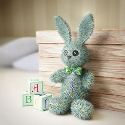 Toy Bunny in the Nursery