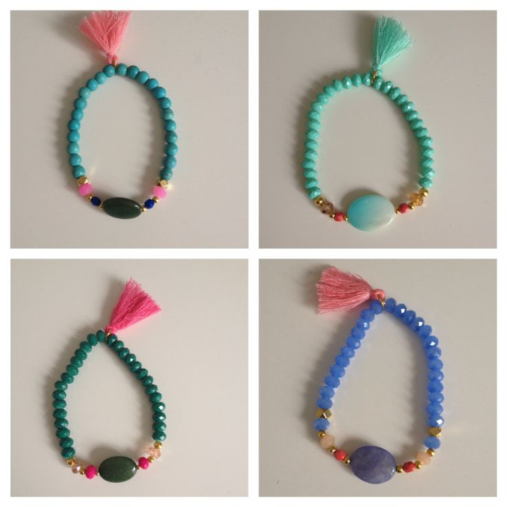 Lovely Ibiza style bracelets by www.fromlwithlove.nl