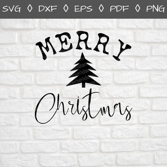 Get Merry Christmas – Dxf/Svg/Png/Pdf Cut & Print Files Image