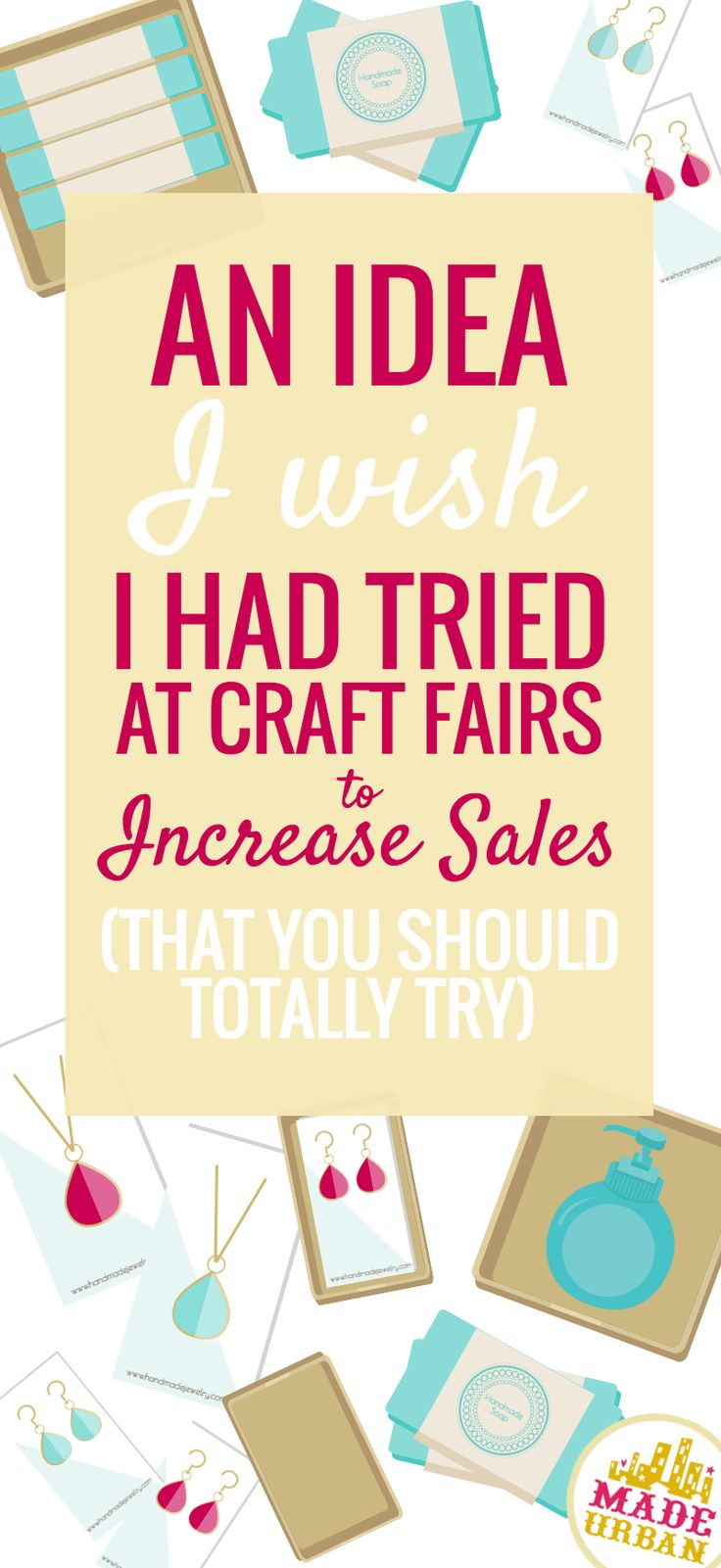 This idea will help lower table fees, increase shoppers who visit your table, increase sales and help ease the stress of a craft fair. Wanna find out what it is? Click the link