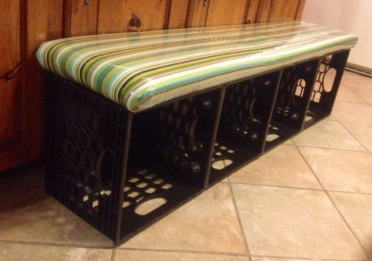 25 Unique Milk Crate Bench Ideas On Pinterest Milk Crate Seats Diy Storage Crate And Milk