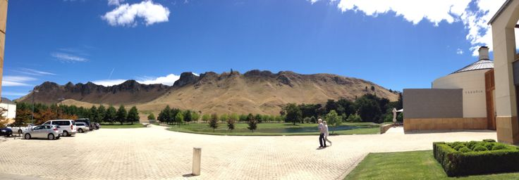 Looking up Te Mata Peak from Craggy Range Winery-Havelock North Hawkes Bay New Zealand