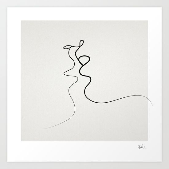 Kiss+2015+Art+Print+by+Quibe+-+$23.97 society 6 art