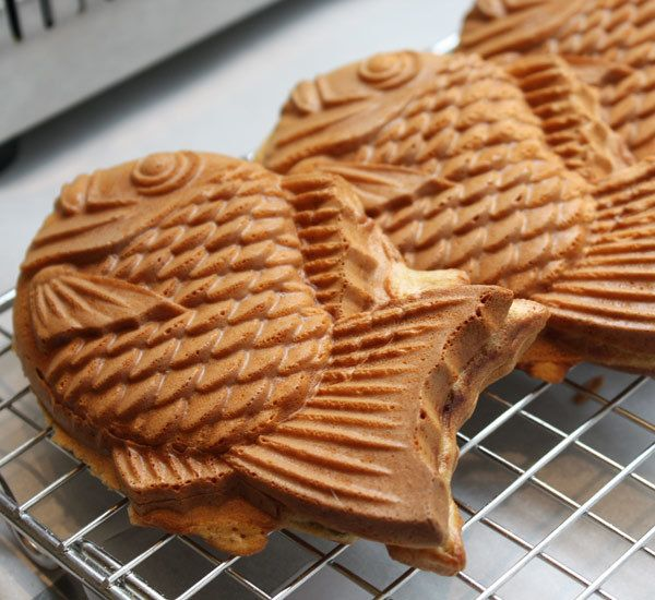 Taiyaki Japanese Fish Shaped Pancakes Filled With Sweet Bean Paste Custard Or W Ver You Want