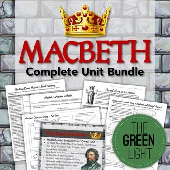 best macbeth images shakespeare macbeth  macbeth bundle unit plan worksheets projects powerpoints essays