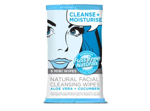 Cleanse + Moisturise Mini Face Wipes - Fuss Free Naturals
