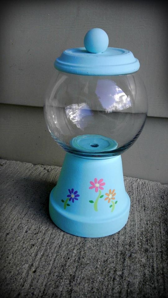 Decorative Gumball Machine/Candy Dish - make it a fishbowl!!!