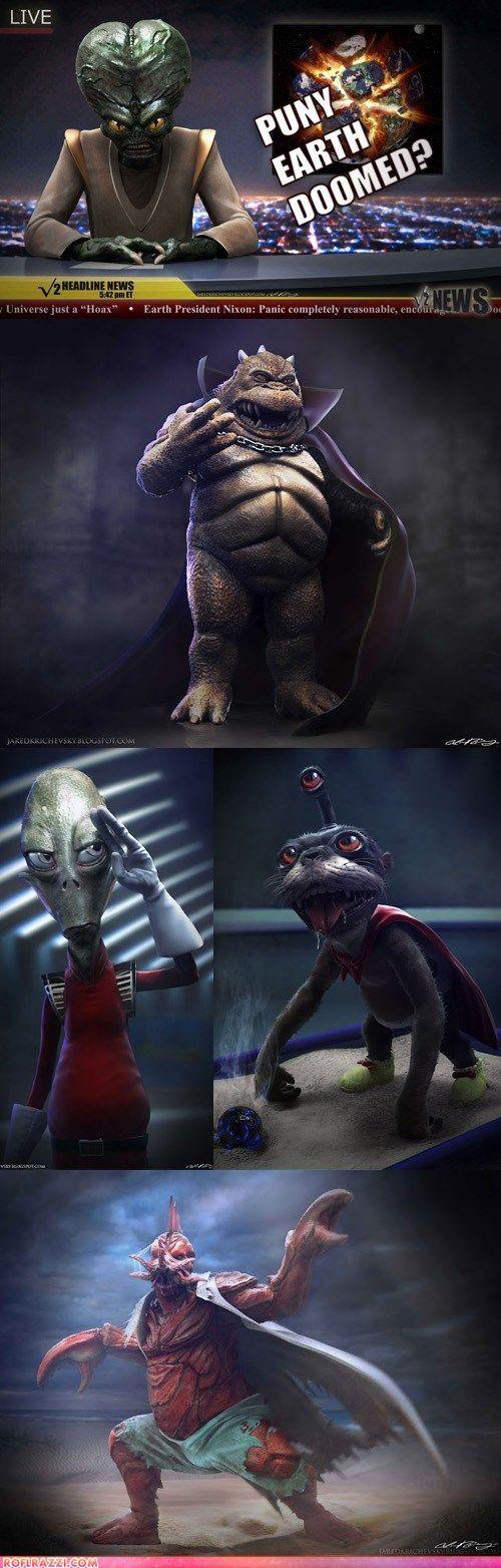 Realistic Futurama Aliens.  Amazing.