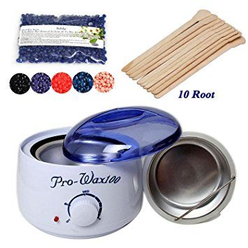 Waxing Kit Electric Wax Warmer with Hard Wax Beans and 10PCs Wax Applicator Sticks,… Review
